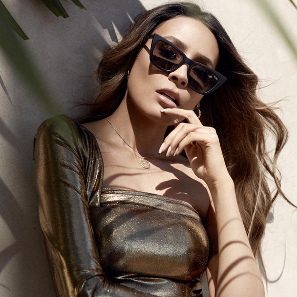 245561558f4 QUAY x DESI Don t At Me Black Cat Eye Sunglasses
